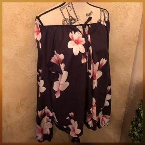 NWOT XL Boutique Lightweight Flower Blouse